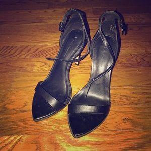 Zara Black Strappy Heels- Women's 6.5